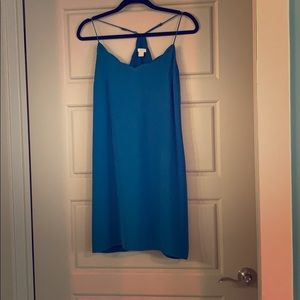 J.Crew teal scalloped dress